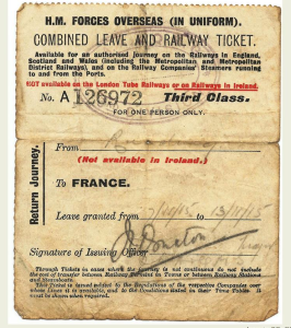 Leave ticket and pass